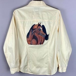 Kikomo Western Style Painted Arabian Horse Shirt
